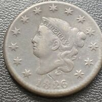 1826 Large Cent Coronet Head One Cent 1c Mid Grade #28994