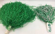 Vintage Cheerleader Pom Poms 1970s Green with Handles