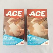 """= Lot of 2 ACE 3M Reusable Hot/Cold Compression Wrap 4"""" x 10"""" Multipurpose NEW"""