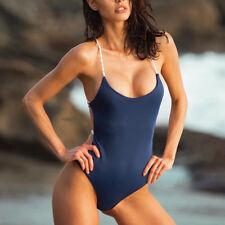 b55bed4e6c0a1 One Piece Women Bandage Thong Bikini Swimsuit Swimwear Bathing Beachwear UK  White L