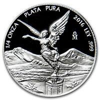2016 Mexico 1/4 oz Silver Libertad Proof (In Capsule)