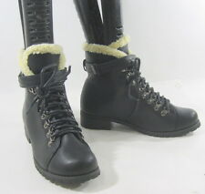 """NEW Black 1.5""""Heel Combat Lace Up Sexy Ankle Boots  US WOMEN Size 6.5"""