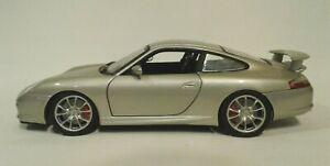 Hot Wheels 2003 Porsche Silver GT3 1:18 Scale Diecast Model Car