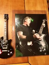 JAMES HETFIELD METALLICA 1:4 Replica Guitar Axe Heaven Black Truckster with 8x10