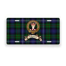 Robertson Scottish Clan Tartan Novelty Auto Plate Tag Family License Plate