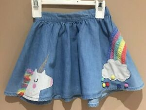 Girls Denim Unicorn Skirt Age 9-12 Months Next