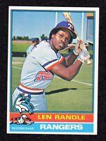 "1976 Topps #31 Len Randle Texas Rangers Baseball Card EX/MT+  ""mrp-collectibles"""