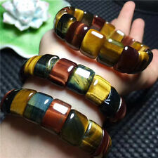 square Bracelet 10*15mm Aaa Natural colored tiger eye stone
