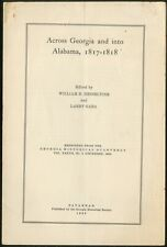 William B HESSELTINE, Larry Gara / Across Georgia and into Alabama 1817-1818