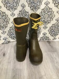 Lacrosse Outdoorsman Men's Lace Hunting Rubber Waterproof Boots USA Size 10
