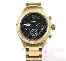 NEW FOSSIL ANTIQUE GOLD TONE,STAINLESS STEEL,CHRONOGRAPH BRACELET WATCH BQ2110IE
