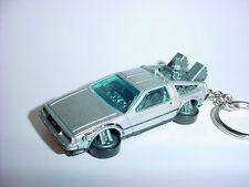 NEW 3D DELOREAN DMC-12 TIME MACHINE CUSTOM KEYCHAIN keyring key ring HOVER MODE!