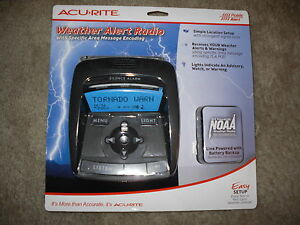 Acurite Weather Alert Radio With Specific Area Message Encoding New!!!