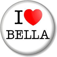 "I Love / Heart BELLA 25mm 1"" Pin Button Badge Swan Twilight Saga Vampire Movie"