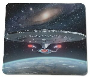 STAR TREK 1701 D Space TNG Picard Riker Data COMPUTER MOUSE PAD 9 X 7 inch USA