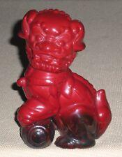 Vintage Red Porcelain Figurine ROYAL DOULTON Dog of Fo Flambe 889k