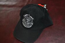 Sons of Anarchy Hat Cap SAMCRO FX Reaper Harley Biker Black  NEW WITH TAGS
