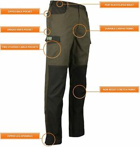 Game Forrester Size 32-40in Men's Waterproof Shooting Shunting Fishing Trousers