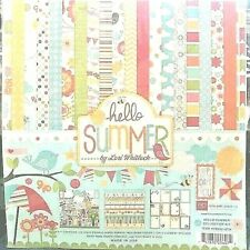 "Echo Park 12""x 12"" HELLO SUMMER collection kit~Beautiful! Quick Ship!"