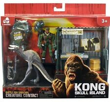 King Kong Skull Dino Monster with Shack & Action Figure Samuel L Jackson New Toy