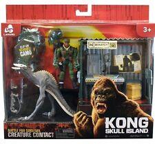 King Kong cráneo Dino monstruo con Shack & Figura De Acción Samuel L Jackson Juguete Nuevo