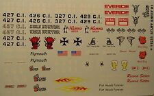 GOFER RACING STUFF SHEET 3 ASSORTED DECALS FOR 1:24 AND 1:25 SCALE MODEL CARS