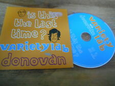 CD Pop Variety Lab w/  Donovan : Is This The Last Time (1 Song) Promo WAGRAM cb