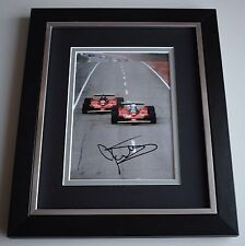 Jody Scheckter SIGNED 10x8 FRAMED Photo Autograph Display Formula 1 AFTAL COA