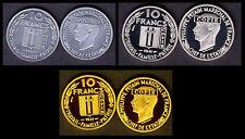 ★★★★ COLLECTION DES 3 COPIES DE L'ESSAI 10 FRANCS PETAIN 1941 PAR DELANNOY ★★★★