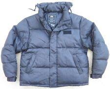 Alpha industries down Jacket Sz L black puffer warm packable hood