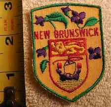 NEW BRUNSWICK CANADA PATCH (STATE, SOUVENIR, VIOLETS)