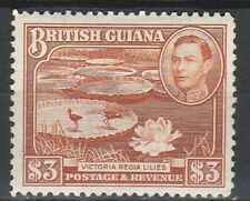 1945 BRITISH GUIANA $3 DEFINITIVE SG 319 M/MINT