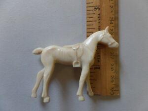 Vintage Ajax Archer Hard Plastic Toy Standing Horse