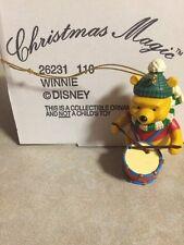 Disney Grolier CHRISTMAS MAGIC WINNIE THE POOH BEAR Drum 110 Ornament NEW