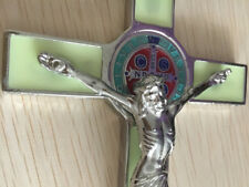 Antique Green Crucifix Wall Cross Jesus Christ INRI Wall Decor Catholic Cross 7""