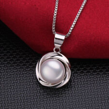 Freshwater Pearl Pendant/Necklace, Pink/White, 925 Silver, UK Seller, BNWT
