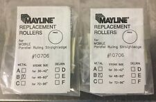 """MAYLINE REPLACEMENT ROLLERS #10706 B  LOT OF 2 PACKS NOS STEDGE 48--60"""" METAL"""