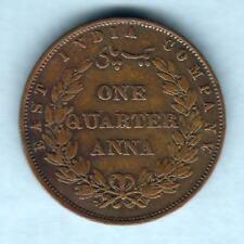 India - British East India Co. 1857 Quarter Anna..  aVF
