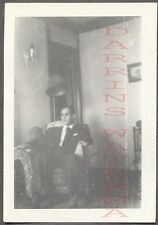 Unusual Vintage Photo Man in Living Room Home Interior 752561