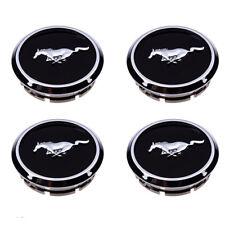 2005-2014 Ford Mustang Wheel Center Cap Covers Black Chrome Pony Emblem (x4) OEM