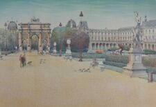 Rolf Rafflewski: Place Of Carousel - Lithography Original Signed #EA