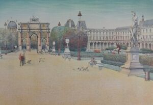 Rolf Rafflewski: Place Of Carousel - Lithography Original Signed #EA