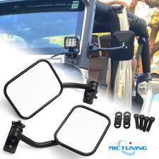 MICTUNING Rectangular Door Trial Mirrors Set for 4X4 Jeep Wrangler TJ LJ JK