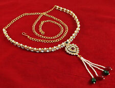 Traditional Indian Goldtone Waist Belt Designer Kamar Bandh Bridal Women Jewelry