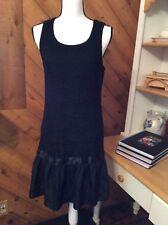 SPEECHLESS Black Lace Ruffle Tank DRESS Statement Zipper Stretch size XL