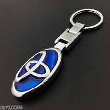 2016 Metal Car double side Logo keyring key chain pendant Key Holder for Toyota