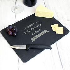 Personalised PERFECTLY AGED Slate Cheese Board For Cheese Lover Engraved Board