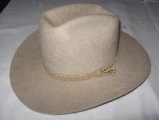 """Vintage TONY LAMA Cowboy Hat 7 1/8"""" Panda Resistol Self Conforming Western Texas"""