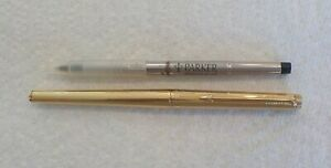 Vintage Parker Classic Gold Rollerball Pen with NOS Refill Good Used Condition