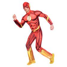 Amscan Adult The Flash DC Superhero Gents Fancy Dress Costume Size XL